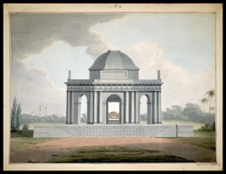 Elevation of a proposed mausoleum for Lord Cornwallis in Ghazipur